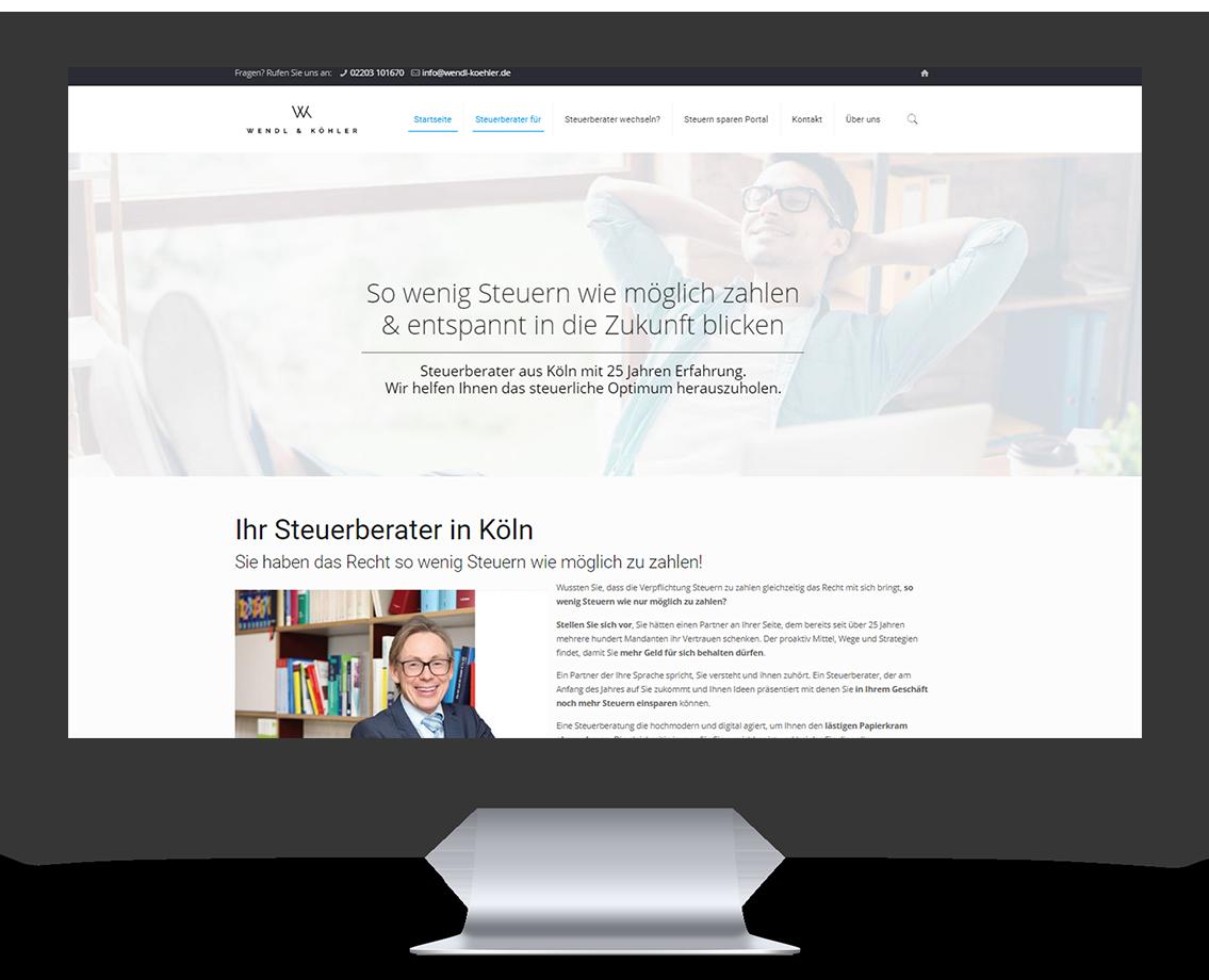 Webseite von Wendl & Köhler