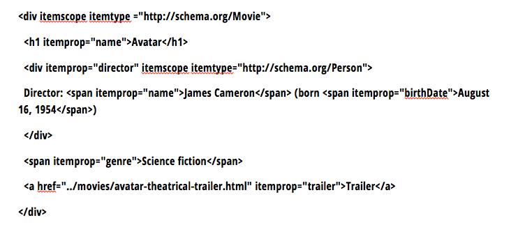 movie Rich Snippet Beispiel Mikrodaten