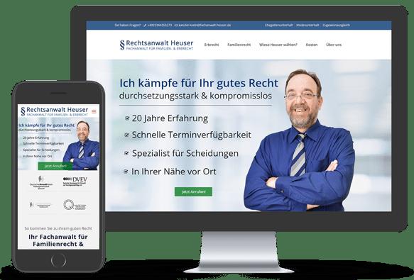 Webdesign Beispiel Rechtsanwalt