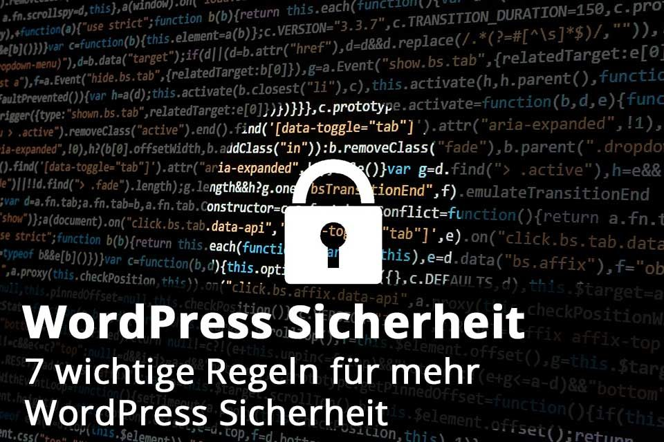 WordPress Sicherheit Titelbild