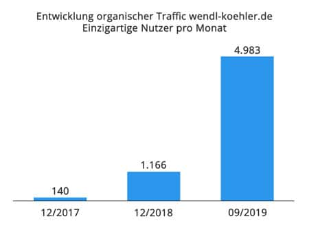 Traffic Entwicklung Case Study Seo Website