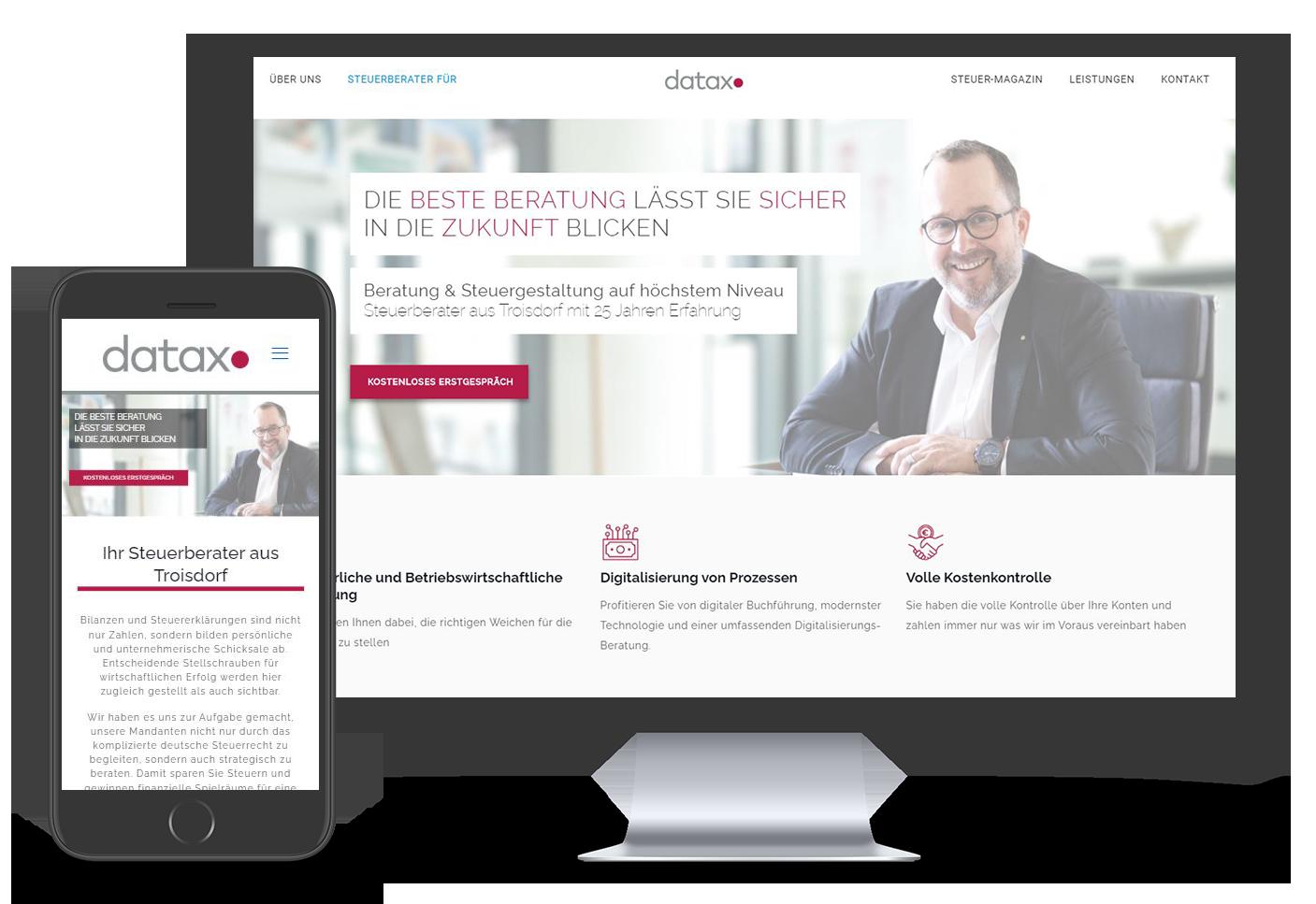 Webseiten Beispiel Datax